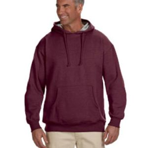 Adult 7 oz. Organic/Recycled Heathered Fleece Pullover Hood Thumbnail