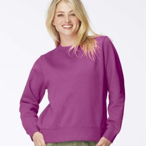 Garment Dyed Women's Crewneck Sweatshirt Thumbnail