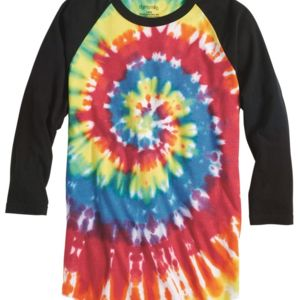 Tie-Dyed Three-Quarter Sleeve Raglan T-Shirt Thumbnail