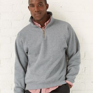SUPER SWEATS Quarter-Zip Cadet Collar Sweatshirt Thumbnail