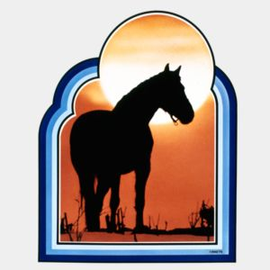 RS0088 Sunset Horse  Thumbnail